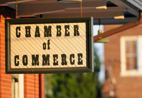 Local Chamber of Commerce Sign