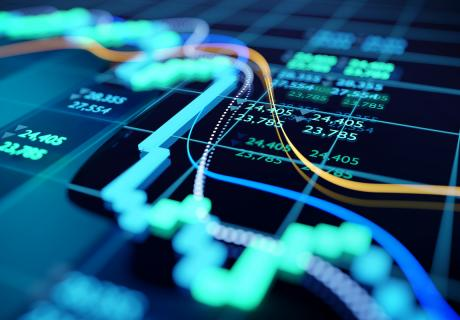 Chart of financial data.