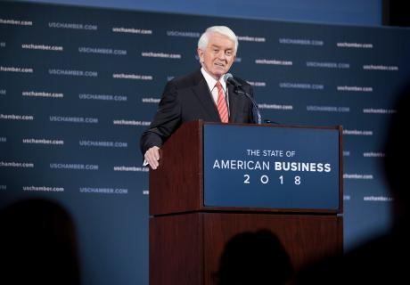 Tom Donohue at the 2018 State of American Business