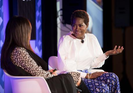 CEO of NightLight Pediatric Urgent Care Zawadi Bryant (right) discusses the challenges of entrepreneurship at the U.S. Chamber of Commerce Small Business Series held in partnership with MetLife in Houston, TX, on March 5.