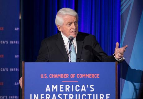 U.S. Chamber President and CEO Tom Donohue speaks at the America's Infrastructure Summit.