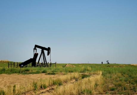 Oil pumping jack in Fort Lupton, Colorado.