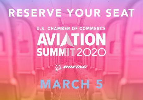 Teaser pink and yellow image for the 2020 Aviation Summit