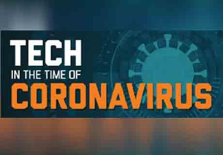Coronavirus Tech Virtual Event Graphic