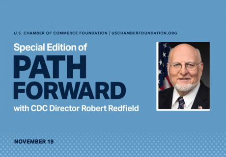 Path Forward - Robert Redfield (CDC Director) Event graphic teaser