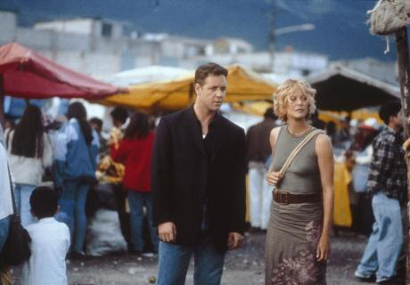 Russell Crowe and Meg Ryan in the 2000 movie Proof of Life.