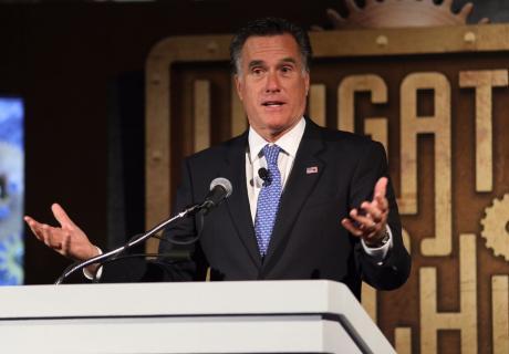 Mitt Romney speaking at the 2016 Institute for Legal Reform summit.