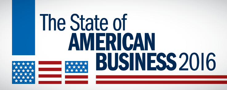 2016 State of American Business Address banner