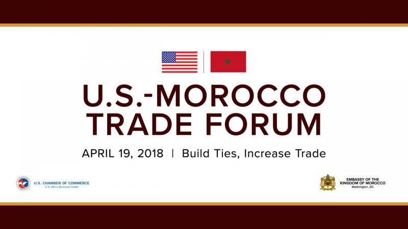 Title slide for the Morocco Trade Forum event on April 19th