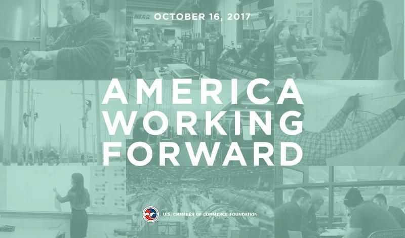 key graphic for the America Working Forward Event