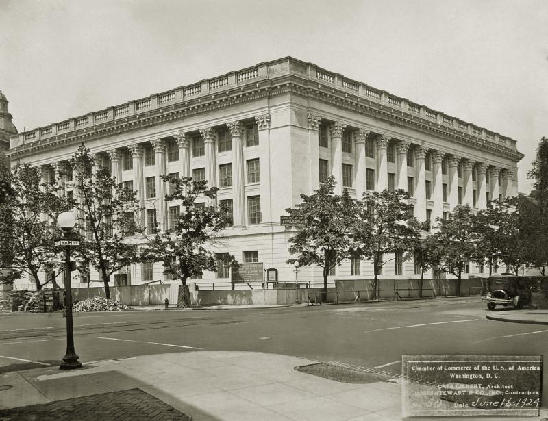 1924 photo of Chamber building