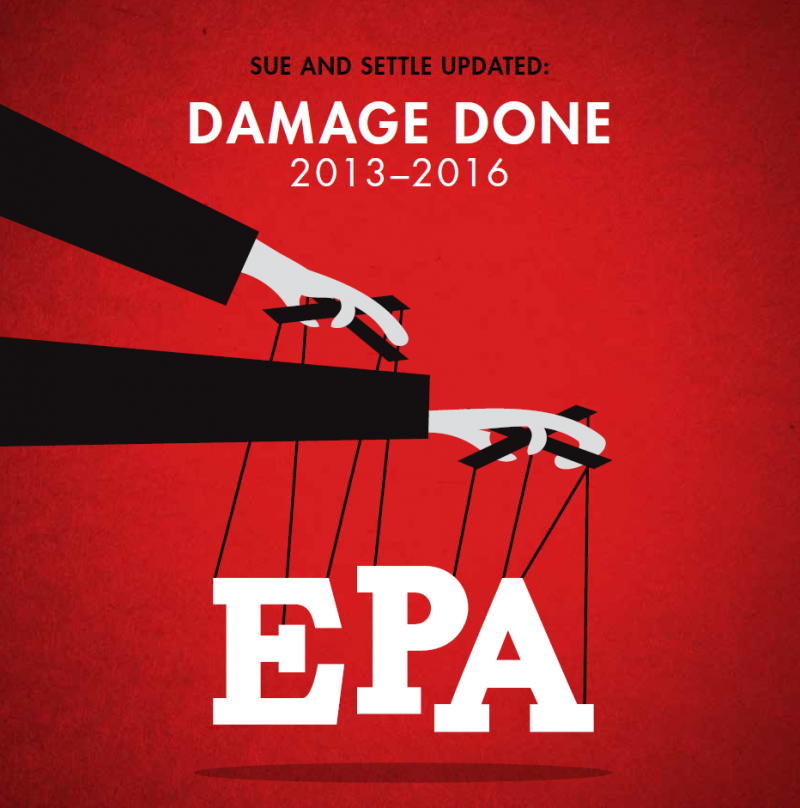 sue and settle report, epa, consent decree, settlements, transparency, regulatory reform