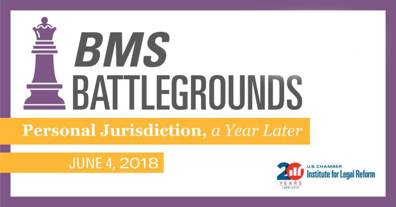 """Event Graphic: """"BMS Battlegrounds: Personal Jurisdiction, a Year Later"""""""