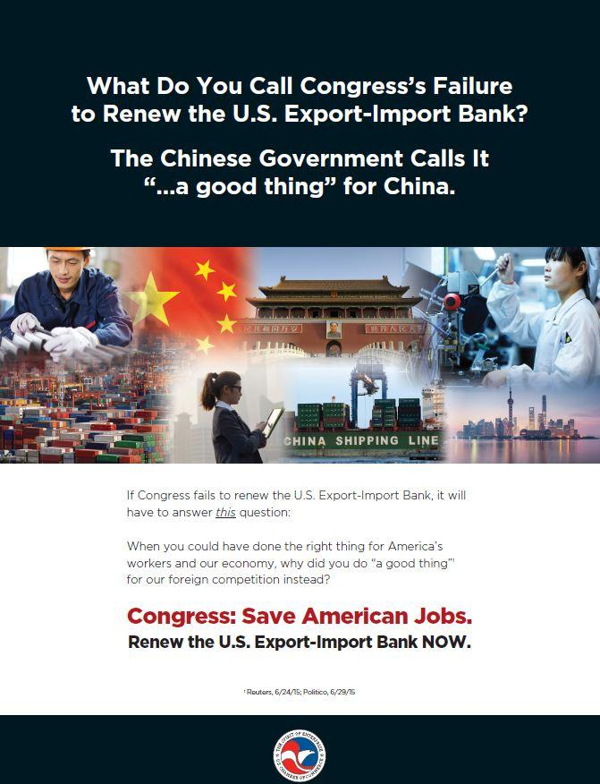 Ex-Im Campaign Ad: No Ex-Im Bank is a good thing for China