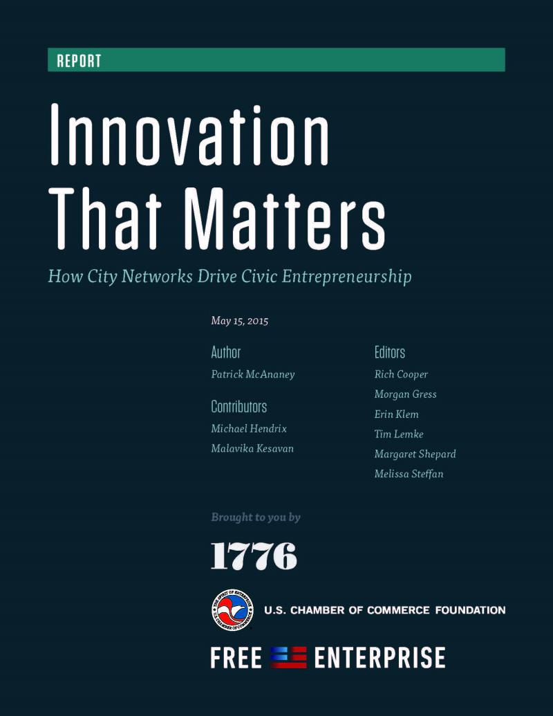 Innovation That Matters report cover
