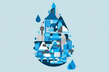 Stylized water drop
