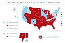Map: States Opposing EPA's Clean Power Plan Face Massive Burden