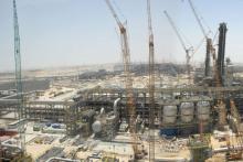 Sadara Chemical Company complex under construction in Saudi Arabia.
