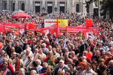 European labor protest
