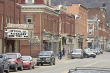 Main Street in Coudersport, Pennsylvania.