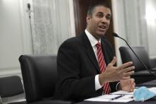 FCC Chairman Ajit Pai speaks before the Senate Commerce, Science, and Transportation Committee.