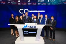 The Co– team at Nasdaq's Closing Bell in New York City.