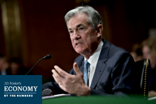 Federal Reserve Chairman Jerome Powell speaking before the Senate Banking Committee.