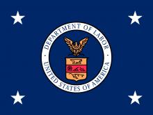 secretary of labor flag
