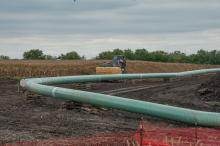 Construction of the Dakota Access Pipeline in Iowa.
