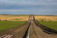 Construction of the Dakota Access Pipeline near in New Salem, North Dakota.