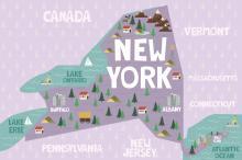 New York state graphic
