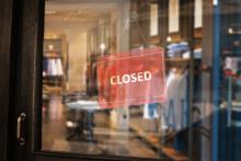 Closed retail store COVID