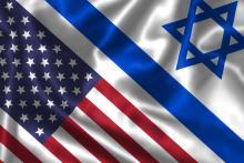 U.S. and Israeli flags