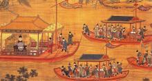 Emperor Jiajing on his state barge