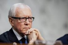 Senator Orrin Hatch, a Republican from Utah, listens to testimony during a Senate Finance Committee hearing. Photographer: Pete Marovich/Bloomberg