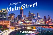 Free Enterprise Main Street Postcard Image