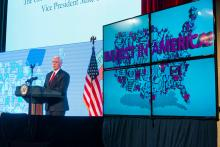 May 18, 2017 - Washington, DC, USA: U.S. Invest In America Summit, featuring Vice President Mike Pence, Treasury Sec. Steve Mnuchin. With Tom Donohue, and Myron Brilliant. Photo by Joshua Roberts / © U.S. Chamber of Commerce