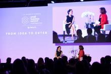 Saran Miyazawa LaFleur and Suzanne Clark at the National Small Business Summit