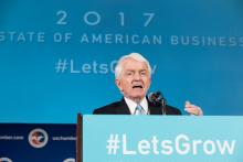 2017 State of American Business address with U.S. Chamber President and CEO Tom Donohue.