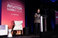 Transportation Secretary Elaine Chao speaks at the U.S. Chamber of Commerce 2019 Aviation Summit.