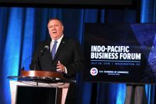 Secretary of State Mike Pompeo speaks at the Indo-Pacific Business Forum at the U.S. Chamber.