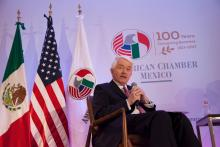 U.S. Chamber President and CEO Tom Donohue speaks to AmCham Mexico.