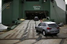 U.S.-made BMW vehicles being exported from Charleston, S.C.
