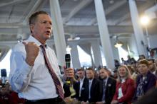 Ohio Governor John Kasich at a townhall meeting in Maryland in 2016.