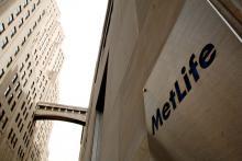 A MetLife sign in New York City.
