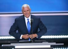 2016 Republican vice presidential nominee Mike Pence.