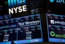 Monitors at the NYSE.