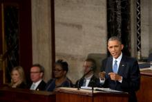 President Barack Obama delivering the 2015 State of the Union Address