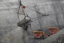 Coal mine in Oakland City, Indiana.