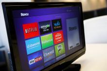 Roku 3 television streaming player menu screen.